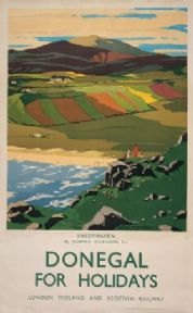 Irish Railway tourism poster, Sheephaven, Donegal, Ireland by Norman Wilkinson
